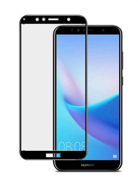 Folie curbată 5D din sticlă securizată pentru Huawei Y6 (2018) NEGRU - Full glue