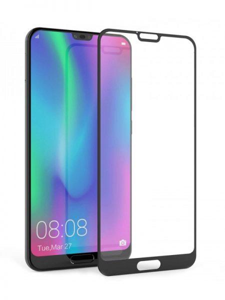 Folie curbată 5D din sticlă securizată pentru Huawei Honor 10 NEGRU - Full glue