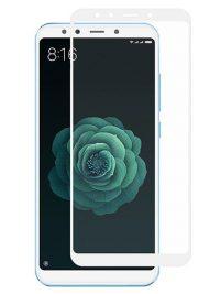 Folie ușor curbată 5D din sticlă securizată pentru Xiaomi Mi A2 ALB - Full glue