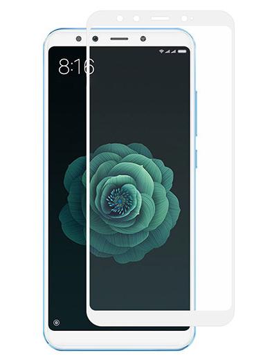 Folie curbată 5D din sticlă securizată pentru Xiaomi Mi A2 ALB - Full glue