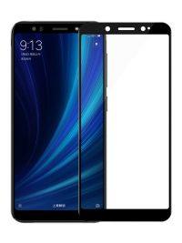 Folie ușor curbată 5D din sticlă securizată pentru Xiaomi Mi A2 (6X) NEGRU - Full glue