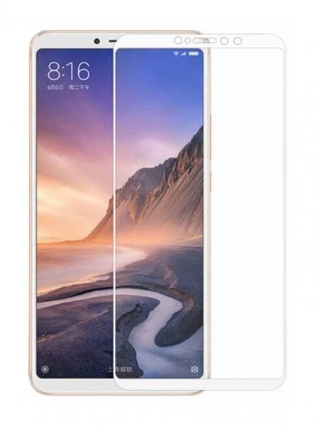 Folie Fullscreen 2.5D din sticla securizata pentru Xiaomi Mi Max 3 ALB