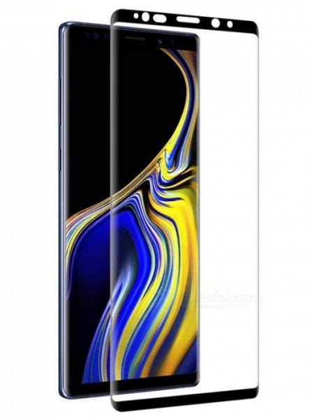 Folie curbată 3D din sticlă securizată pentru Samsung Galaxy Note9 NEGRU (Case-compatible 1)