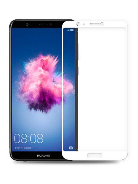 Folie curbată 5D din sticlă securizată pentru Huawei P Smart ALB - Full glue