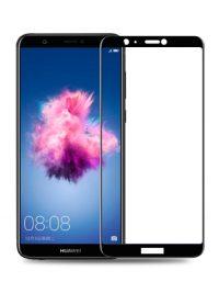Folie ușor curbată 5D din sticlă securizată pentru Huawei P Smart NEGRU - Full glue
