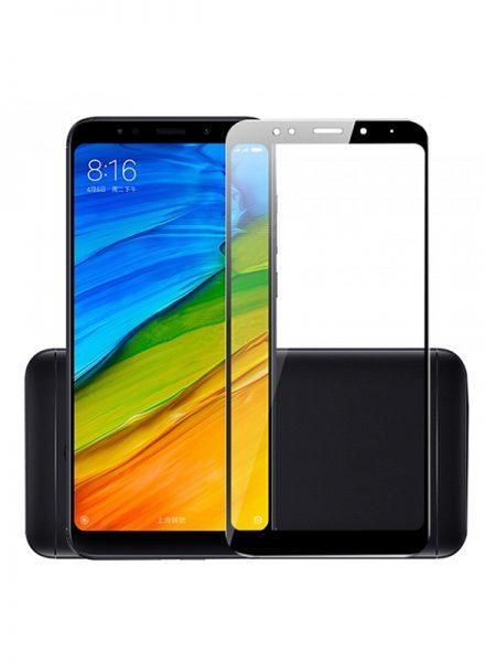 Folie curbată 5D din sticlă securizată pentru Xiaomi Redmi 5 NEGRU - Full glue