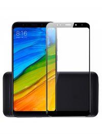 Folie ușor curbată 5D din sticlă securizată pentru Xiaomi Redmi 5 Plus NEGRU - Full glue