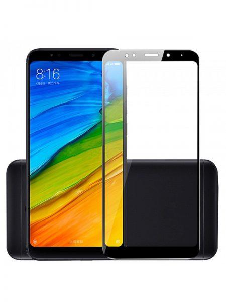 Folie curbată 5D din sticlă securizată pentru Xiaomi Redmi 5 Plus NEGRU - Full glue
