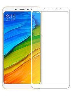 Folie curbată 5D din sticlă securizată pentru Xiaomi Redmi Note 5 / 5 Pro ALB - Full glue