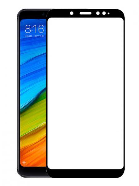 Folie curbată 5D din sticlă securizată pentru Xiaomi Redmi Note 5 / 5 Pro NEGRU - Full glue