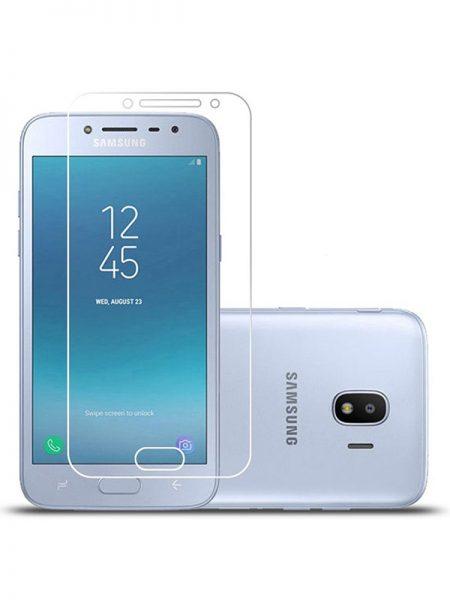 Folie curbată 3D din sticlă securizată pentru Samsung Galaxy J4 (2018) TRANSPARENT (Full cover)