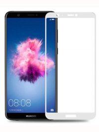 Folie Fullscreen 2.5D din sticla securizata pentru Huawei P Smart ALB