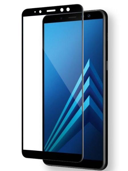 Folie curbată 3D din sticlă securizată pentru Samsung Galaxy A7 (2018) NEGRU (Full cover)