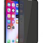 Folie PRIVACY ușor curbată 5D din sticlă securizată pentru iPhone X / XS / 11 Pro