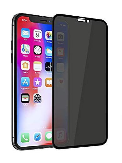 Folie PRIVACY curbată 5D din sticlă securizată pentru iPhone XS Max / 11 Pro Max