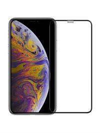Folie ușor curbată 5D din sticlă securizată pentru iPhone X / XS / 11 Pro - NEGRU