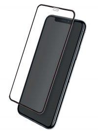 Folie ușor curbată 5D din sticlă securizată pentru iPhone XR / iPhone 11 - NEGRU