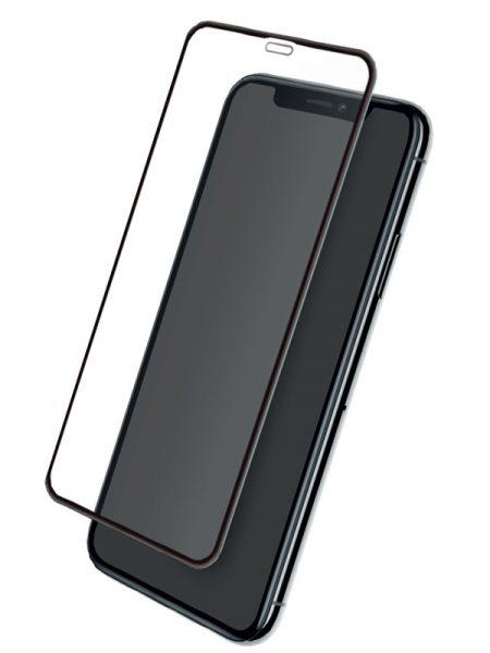 Folie curbată 5D din sticlă securizată pentru iPhone XR - NEGRU