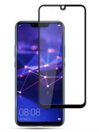 Folie ușor curbată 5D din sticlă securizată pentru Huawei Mate 20 Lite NEGRU - Full glue