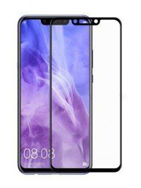 Folie ușor curbată 5D din sticlă securizată pentru Huawei Nova 3 / 3i NEGRU - Full glue
