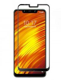 Folie ușor curbată 5D din sticlă securizată pentru Xiaomi Pocophone F1 NEGRU - Full glue