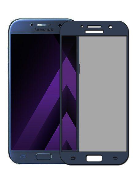 Folie curbată 3D din sticlă securizată pentru Samsung Galaxy A5 (2017) BLEUMARIN (Full cover)
