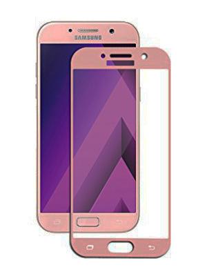Folie curbată 3D din sticlă securizată pentru Samsung Galaxy A5 (2017) ROZ (Full cover)