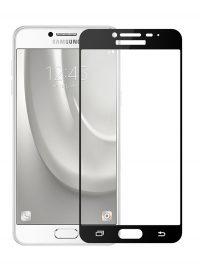 Folie Fullscreen 2.5D din sticla securizata pentru Samsung Galaxy C5 NEGRU