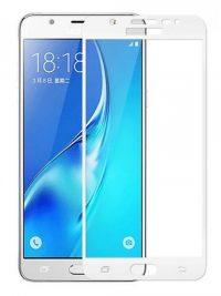 Folie Fullscreen 2.5D din sticla securizata pentru Samsung Galaxy C7 ALB