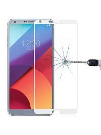 Folie Fullscreen 2.5D din sticla securizata pentru LG G6 ALB