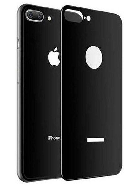 Folie 5D din sticlă securizată pentru iPhone 8 Plus - SPATE - NEGRU