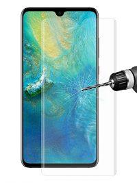 Folie curbată 3D din sticlă securizată pentru Huawei Mate 20 TRANSPARENT (full cover)