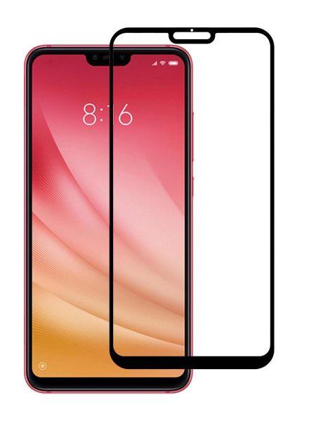 Folie curbată 5D din sticlă securizată pentru Xiaomi Mi 8 Lite NEGRU - Full glue