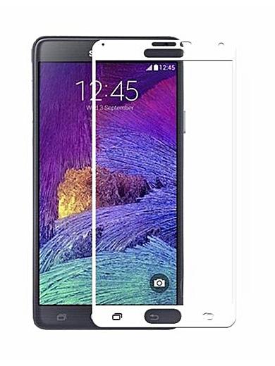Folie Fullscreen 2.5D din sticla securizata pentru Samsung Galaxy Note 4 ALB