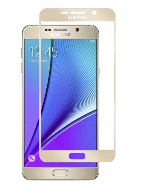 Folie Fullscreen 2.5D din sticla securizata pentru Samsung Galaxy Note 5 GOLD