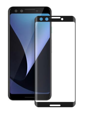 Folie curbată 5D din sticlă securizată pentru Google Pixel 3 NEGRU - Full glue
