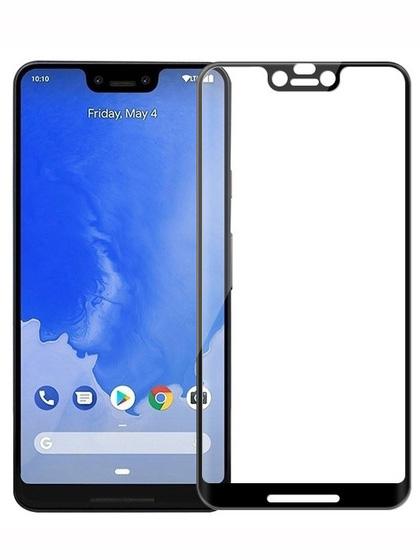Folie curbată 5D din sticlă securizată pentru Google Pixel 3 XL NEGRU - Full glue