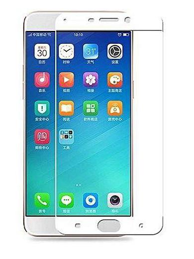 Folie Fullscreen 2.5D din sticla securizata pentru Oppo R9 ALB