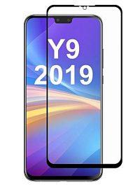 Folie ușor curbată 5D din sticlă securizată pentru Huawei Y9 (2019) NEGRU - Full glue