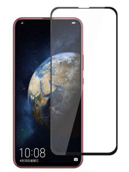 Folie curbată 5D din sticlă securizată pentru Huawei Honor Magic 2 NEGRU - Full glue