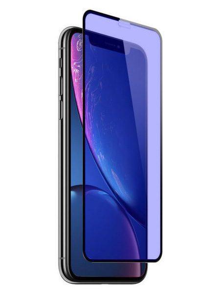 Folie ANTI BLUE-RAY curbată 5D din sticlă securizată pentru iPhone XR