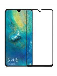 Folie ușor curbată 5D din sticlă securizată pentru Huawei Mate 20 NEGRU - Full glue