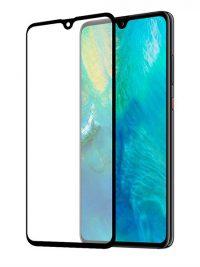 Folie ușor curbată 5D din sticlă securizată pentru Huawei Mate 20 X - NEGRU - Full glue