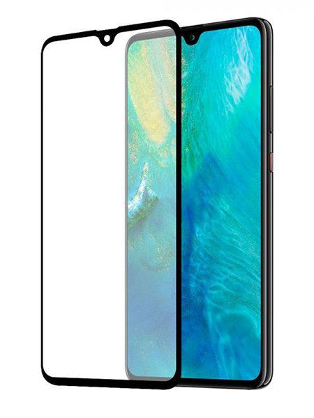 Folie Fullscreen 9D din sticlă securizată pentru Huawei Mate 20 X - NEGRU - Full glue