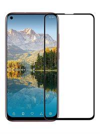 Folie ușor curbată 5D din sticlă securizată pentru Huawei Honor View 20 / Nova 4 NEGRU - Full glue