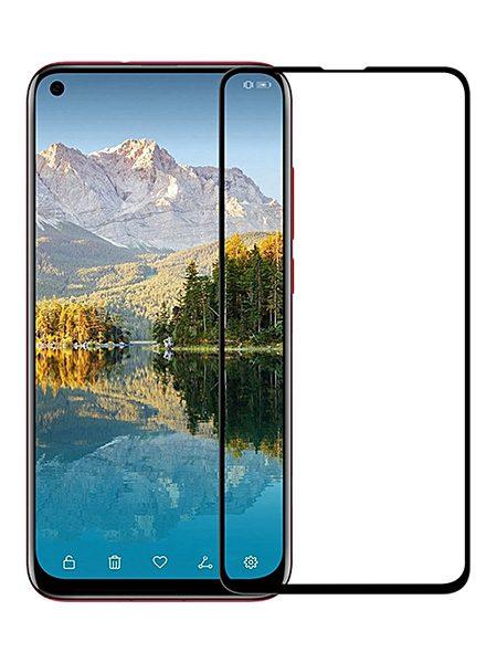 Folie curbată 5D din sticlă securizată pentru Huawei Honor View 20 / Nova 4 NEGRU - Full glue