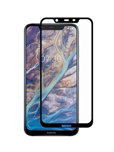 Folie Fullscreen 9D din sticla securizata pentru Nokia 8.1 - FULL GLUE