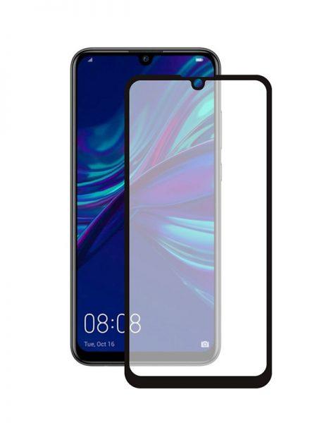 Folie curbată 5D din sticlă securizată pentru Huawei P Smart (2019) NEGRU - Full glue