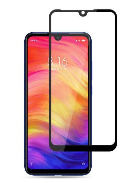 Folie curbată 5D din sticlă securizată pentru Xiaomi Redmi Note 7 NEGRU - Full glue