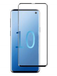 Folie curbată 3D din sticlă securizată pentru Samsung Galaxy S10 NEGRU - Full cover